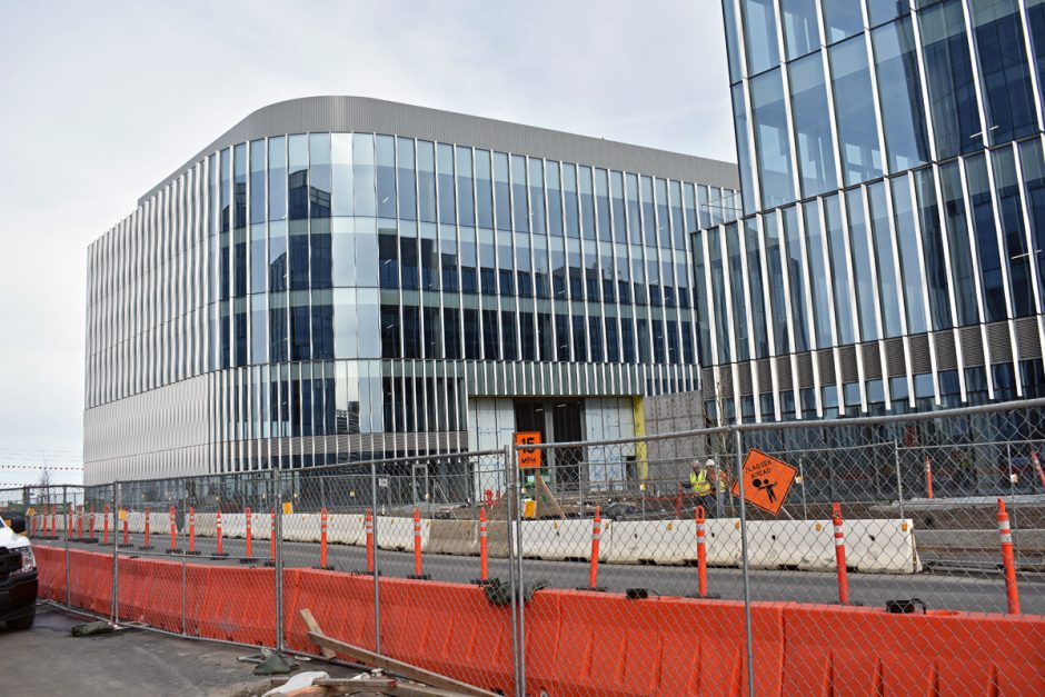 NWD is finishing exterior work on two of the four office buildings on the Burlingame Point campus.