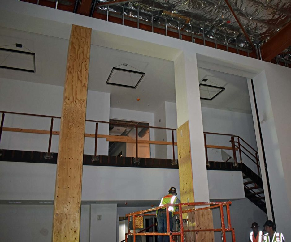 Here is a look at Heafey-Bergin during installation.