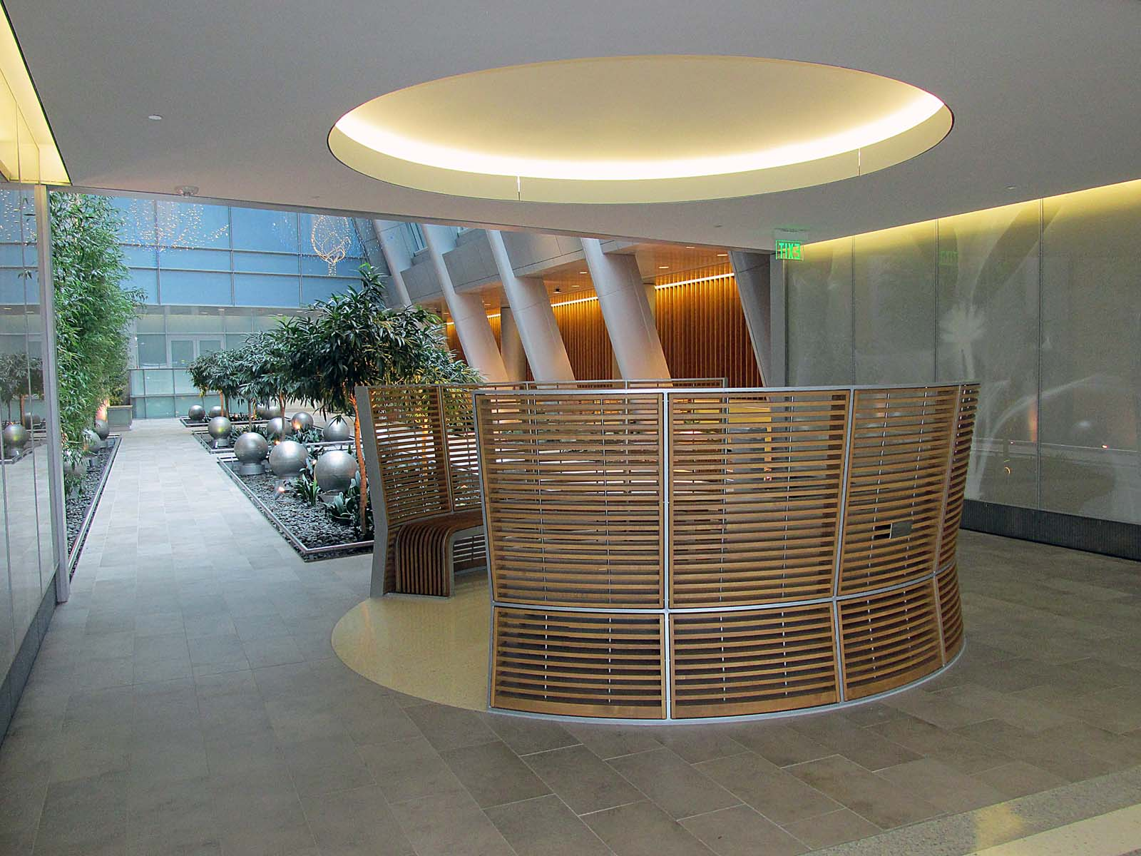 Indoor Garden Atrium Benches