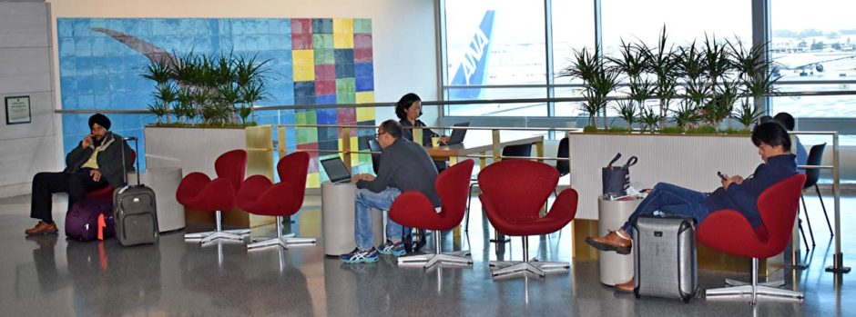 The REACH project at the San Francisco International Airport includes planter boxes, boxed end walls and hydration stations.