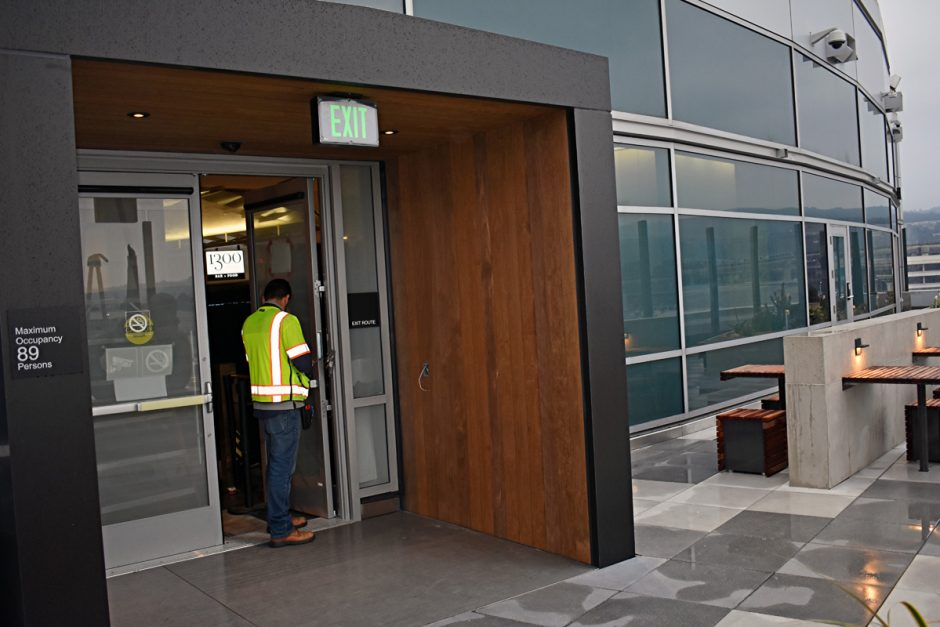 In addition to the planter boxes and boxed end walls inside Concourses G and A, the project also includes the vestibule entrance to the patio.