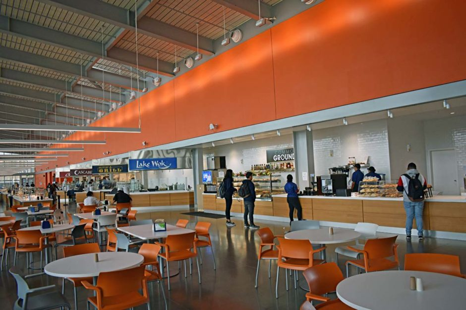 The Pavilion opened in Aug. 2018. The 600-seat dining facility includes three dining rooms.