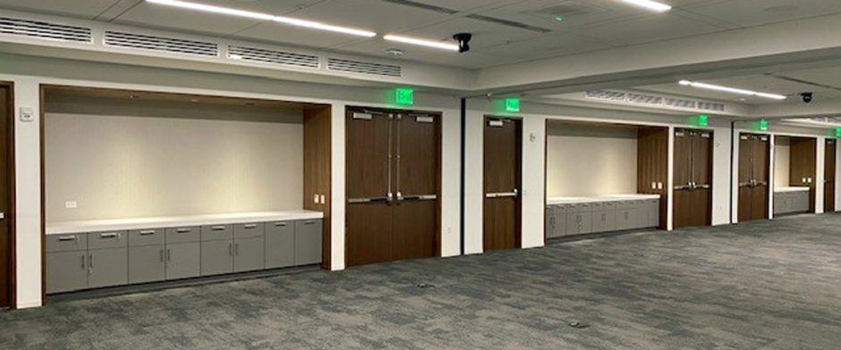 NWD provided the casework and wall paneling in the waiting area outside of the conference center.